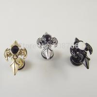 Free Shipping Gold Black Silver  Vintage Cross Stud Earring Body Jewelry  Punk Rocky  Ear Piercing Jewelry