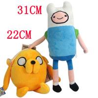 "Free Shipping 2pcs/lot  Adventure Time Finn & Jake Plush Doll Plush Toy Soft Stuffed Animal Doll 7"" 18CM Christmas Gifts"