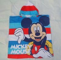 Mickey baby bath towel Print bear beach towel Fast Drying cute supplies children beach