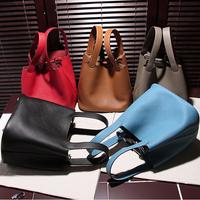 FreeShipping by EMS 2015 new women handbag fashion top luxury brand genuine leather bag portable shoulder bags with Original box