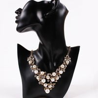 Fashion Necklaces For Women 2015 Chain Multi Layer Necklace Choker Statement pearl Necklace Silver Jewelry Free Shipping