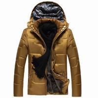 Men's 2015 winter new thick padded coat male Korean tidal plus velvet jacket coat winter clothes youth
