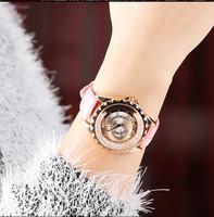 Watch female strap trend fashion rhinestone ladies watch elegant casual quartz watch student watch birthday gift