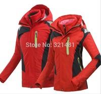 Outdoor Winter Warm Jacket Men Sport Waterproof Windproof Men's Outdoors 3 in 1 Skiing Coat Jackets Man Clothes Ski Suit