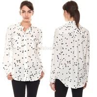 Discount Loose Shirt Printed Tops Long Sleeve Women Blouses Plus Size Blusas Femininas Spring Pockets Star Pattern Casual B16