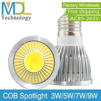 GU10 Base Lamp LED Spotlight Bulbs 110-240V Voltage COB LED Chips LED Bulbs 3W 5W 7W High Power Hot Sale MDLSP-1-003