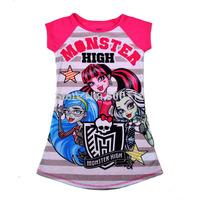 Wholesale 2015 New Children/Kids/girl's Nightgown, Monster High summer dress, children clothes kids garments, 4pcs/lot-WYX-15-05