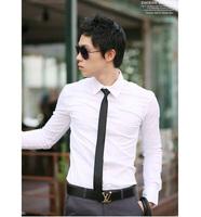 Mens Shirt Long Sleeve Casual Formal Dress Shirt  Slim Fit Camisa Masculina Plus Size M - 3XL