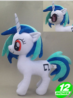 brand new DJ Pon-3/Vinyl Scratch plush doll kid dolls gift girls & boys & children toy 30cm