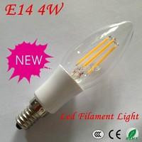 Free Shipping!New Design Led Lamp E14 110V 220V 2W 4W E14 LED Filament Candle Bulbs CRI 80 360 Degree Beam Angle 10 Pcs Per Lot
