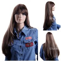 NAWOMI Wigs 100%KANEKALON Long Straight Blond Nicki Minaj Hair Mix Color Mixed Fanshion Girls Lady Woman Hairpiece C3283