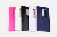 Original  Leather PU Flip Cover Cases For LG G2 mini d618 Battery Housing Back Case With Samrt Auto Sleep Funtion