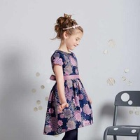 Free Shipping,1pcs/lot, 2015 new girl's dress,children vertb** brand flowers design girl's dress,2-10 year,purple color