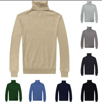 New Brand  Winter Autumn Men's Turtle Neck Slim Cashmere Sweater Long Sleeve Jumpers Pullover Large Size M L XL XXL