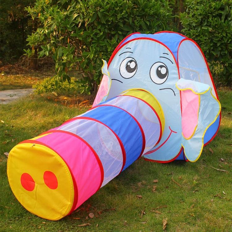 Túnel bebê brinquedo Multicolor Elephant tendas túnel para crianças brinquedos ao ar livre para crianças(China (Mainland))