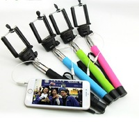 New Z07-5S Plug-In Selfie Monopod with 3.5mm Audio Cable for IOS Android Mobile Phones