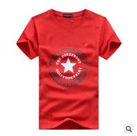 2015 men's short-sleeved T-shirt large size men's short-sleeve 100% cotton black white gray S L M XL 2XL 3XL 4XL Free shipping