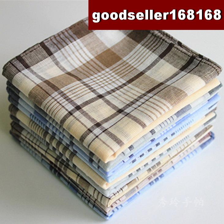 6 pieces / half dozen large size 38cm x 38cm classic pattern 100% cotton handkerchiefs(China (Mainland))