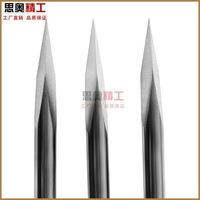 Milling cutter 3.175mm 30 degree 0.2mm V shape carbide Engraving Tools Milling Cutters mill for cnc part 5pcs/lot Free Shipping
