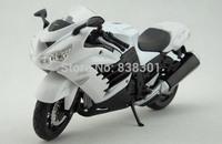 5pcs/pack Wholesale Brand New Motorbike Model Toys 1/12 Kawasaki Ninja ZX-14R White Diecast Metal Motorcycle Model Toy