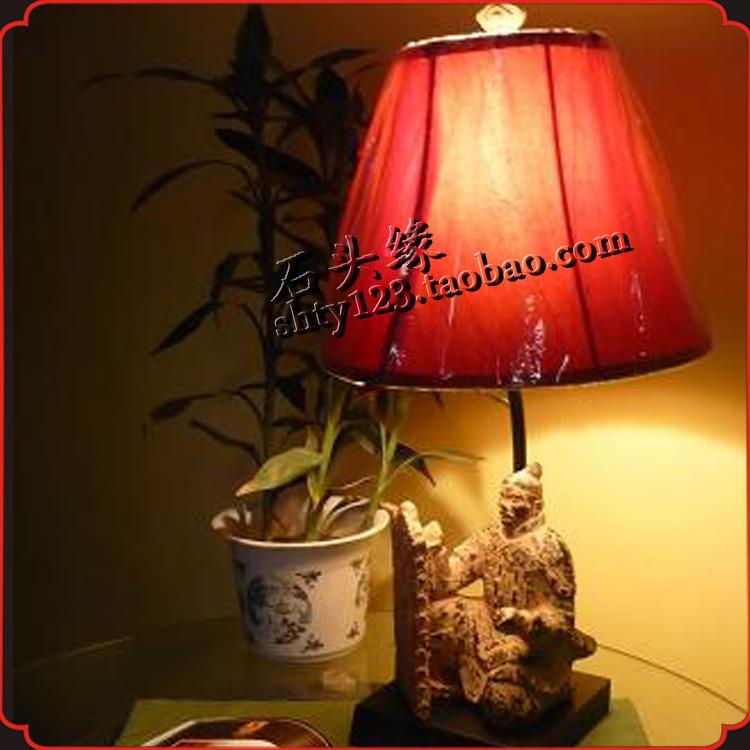 Stone edge creativity retro lamps home decorations neoclassical vertical restaurant table lamp - warriors(China (Mainland))