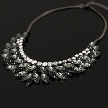 2015 New Fashion Brand luxury Crystal Necklaces & Pendants eyes Resin  choker statement necklace women jewelry