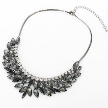 2015 New Fashion Brand luxury Crystal Necklaces Pendants eyes Resin choker statement necklace women jewelry
