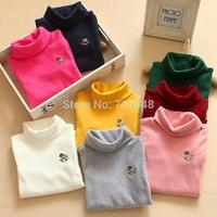2014 New Korean Version of the Autumn and Winter in Children Wholesale Children Sweater Turtleneck Sweater Baby Sweater Girls
