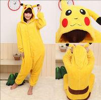 Pokemon Pikachu Pajamas Sleepwear Japan Anime Costume Animal Cosplay S M L XL Free Shipping