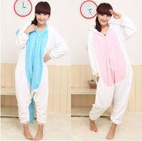 JP Anime Pink Blue Unicorn Cosplay Costume Pajamas Adult Pajamas Halloween Party Costume Free Shipping