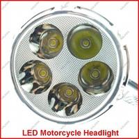 2PCS 12V 18W Three Generation Motorcycle RGB LED Headlight/ Fog lamp High/Low Beam Motorbike Lamp M03D Freeshipping ^^KKK