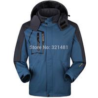 2015 New Brand Spring & Autumn Waterproof Camping Hiking Outdoor jacket Sportswear Plus fleece lining Climbing Clothing 1 order