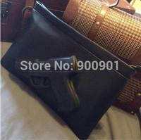 hot!!! Brand Women messenger bags Black PU Leather lady fashion clutches bags 3D gun cotton print shoulder bag wallets