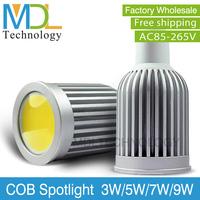 High quality MR16 Base Lamp LED Spotlight Bulbs COB LED Chips DC12V LED Bulbs 3W 5W 7W 9W High Power Hot Sale MDLSP-2-005