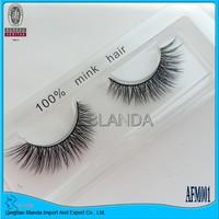 Free Shipping 1 Pair mink eyelash 3D Mink hair lashes Voluminous Make up strip eyelash