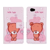 2015 New Leather Stand Wallet Case Cover For Xperia Z1 mini Flower Butterfly Bear Cartoon Phone Cases With Holder