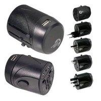 Universal International Foreign Tourist Holiday Multi Travel Adapter Adaptor Convertor with Dual (2) USB Port Plug