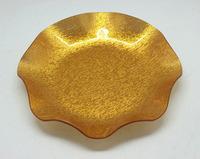 hotel restaurant bar KTV wedding gold/leaf Acrylic fruit plate snack  food candy disc Guodie storage trays 2pcs/set
