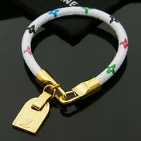 2015 Top Brand Design Plated Gold Bracelet Stainless Steel Genuine Leather Bracelet Women Bracelets Bangles