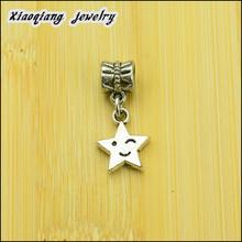 Free shipping! 25pcs Star Tibetan silver big hole pendant fit Pandora charm bracelet DIY pendant. XQ0013