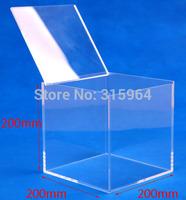 200X200X200 1 LAYER CLEAR ACRYLIC BOX