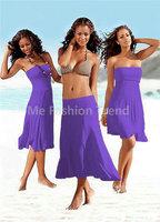 2015 Summer holiday Beach Bathe Smock Bikini Dresses Multifunction Worn Elastic Sexy Swim wear Sling Biquini Vestido de praia