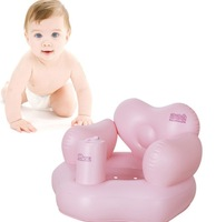 1-3 Years Old Pink Inflatable Chairs For Kids Portable Baby Learn Seat Sofa Chair Small Inflatable Baby Chairs For Dining