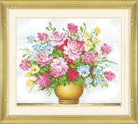 DIY Embroidery Precise Print 3D Cross Stitch,Flowers Design,Home Decoration, Handmade Good Qaulity Cotton Thread