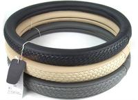 Breathable wicking Slip Weave steering wheel cover gray beige steering wheel hubs leather diameter 38CM general model