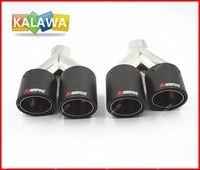 Universal auto modified carbon tail pipes end pipe AK.RAPOVIC silencer fit for all cars 1A Freeshipping GGG
