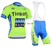 New arrive! SAXO BANK 2015 #2 short sleeve cycling jersey bib shorts bicycle wear clothes jersey pants,gel pad,free shipping!