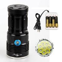 Free Shipping SKYRAY 12000Lumens 8x CREE XM-L T6 LED Flashlight Torch Searchlight Caver Flash light