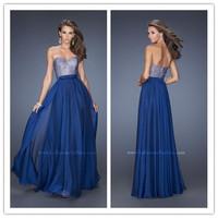 Bloom Beauty Hot Design 2015 Spring New Women Evening Dress Beading Sweetheart Backless Maxi Chiffon Bridemaid Wedding Dress