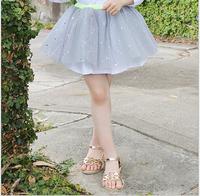 2015 New Sparkle Star Tutu Ganze Skirt, Princess Shine Dance Dresses Grey Apricot  Wholesale 5 pcs/lot, Free Shipping